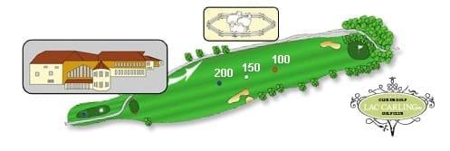 Hotel lac carling Club et parcours de golf Laurentides Lachute Trou #1