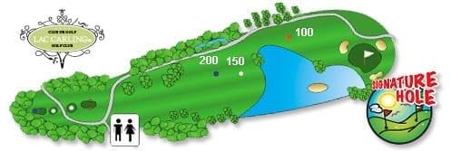 Hotel Lac Carling Club et parcours de golf Laurentides Lachute Trou #16