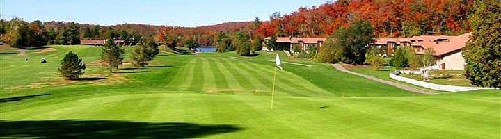 Hotel lac carling Club et parcours de golf Laurentides Lachute Trou #1 photo